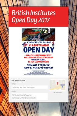 British Institutes Open Day 2017