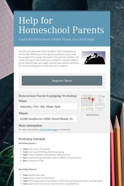 Help for Homeschool Parents
