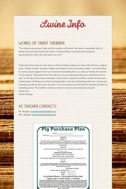 Swine Info
