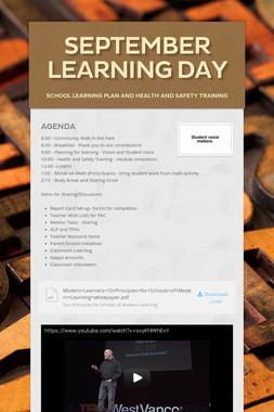 September Learning Day