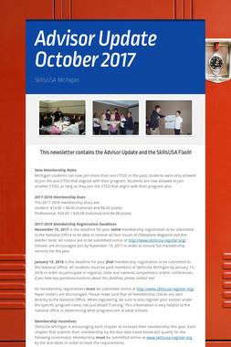 Advisor Update October 2017