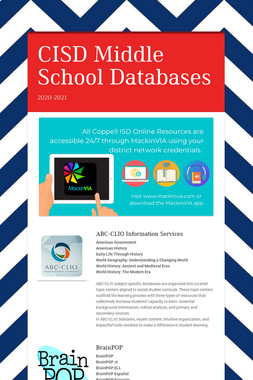 CISD Middle School Databases