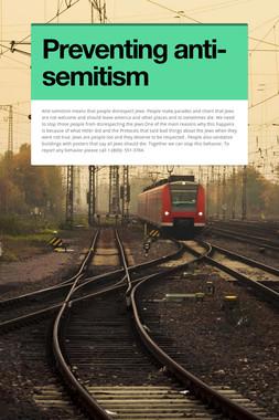 Preventing anti-semitism