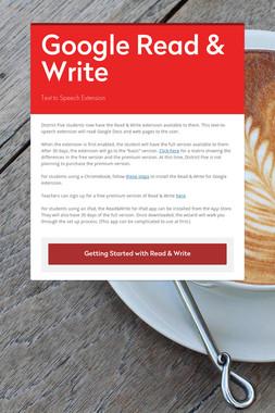 Google Read & Write