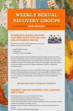 Weekly Sexual Recovery Groups