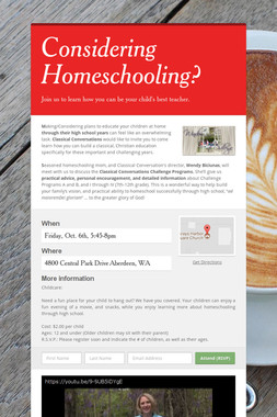 Considering Homeschooling?