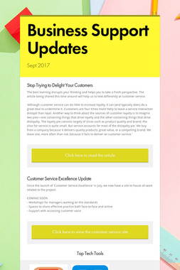 Business Support Updates