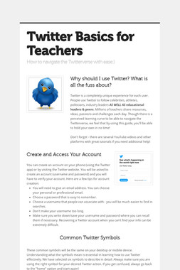 Twitter Basics for Teachers