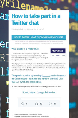 How to take part in a Twitter chat