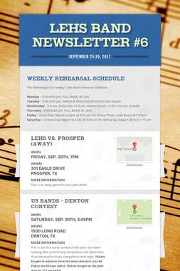 LEHS Band Newsletter #6