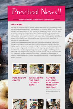 Preschool News!!