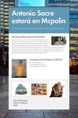 Antonio Sacre estará en Mcpolin
