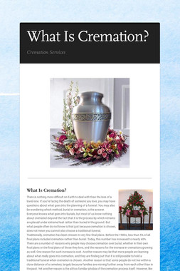 What Is Cremation?