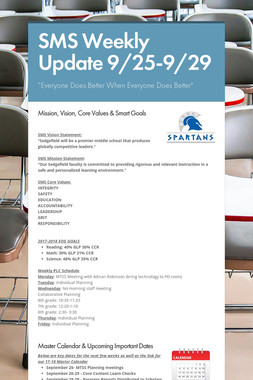 SMS Weekly Update 9/25-9/29