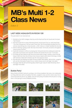 MB's Multi 1-2 Class News