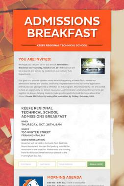 Admissions Breakfast