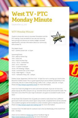 West TV - PTC Monday Minute