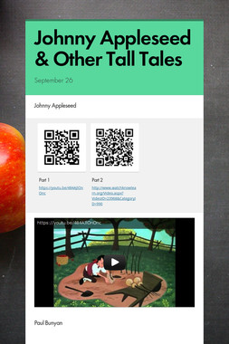 Johnny Appleseed & Other Tall Tales