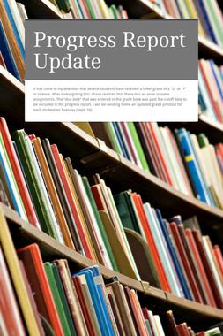 Progress Report Update