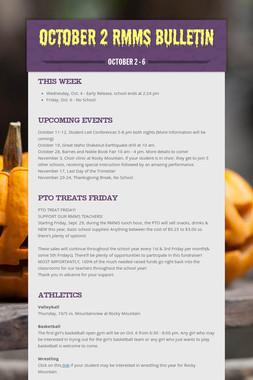 October 2 RMMS Bulletin