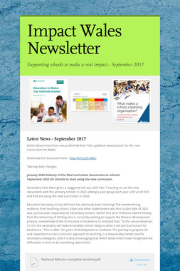 Impact Wales Newsletter