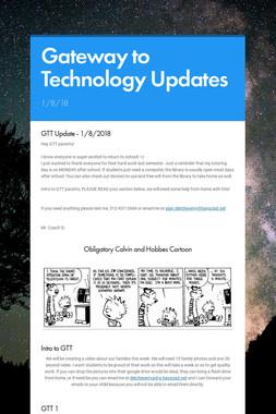 Gateway to Technology Updates