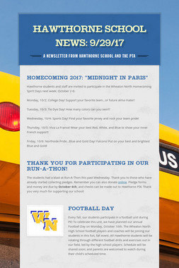 Hawthorne School News: 9/29/17