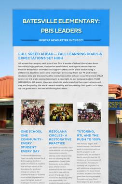 Batesville Elementary: PBIS Leaders