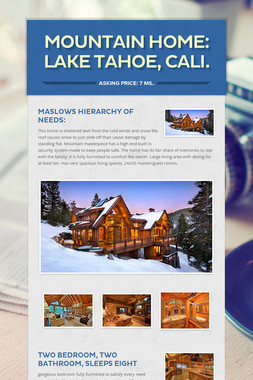 MOUNTAIN HOME: Lake Tahoe, Cali.