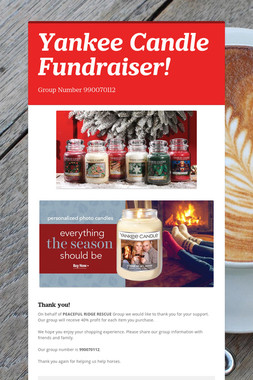 Yankee Candle Fundraiser!