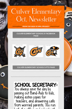Culver Elementary Oct. Newsletter