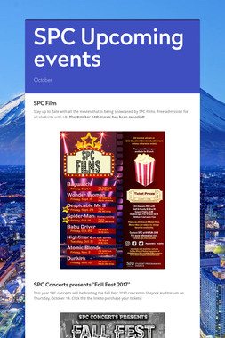 SPC Upcoming events