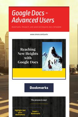Google Docs - Advanced Users