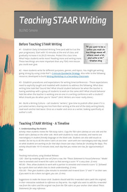 Teaching STAAR Writing