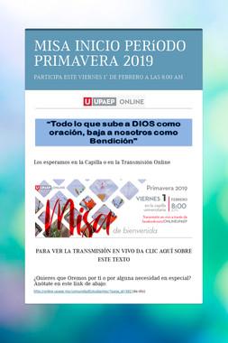 MISA INICIO PERíODO PRIMAVERA  2019
