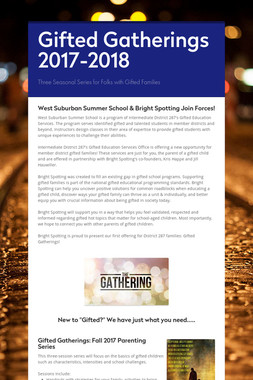 Gifted Gatherings 2017-2018