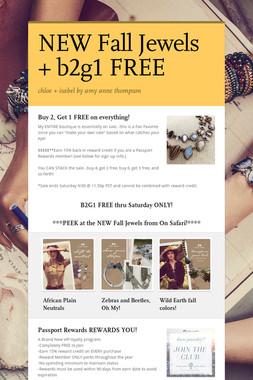 NEW Fall Jewels + b2g1 FREE