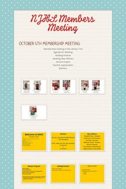 NJHS Members Meeting