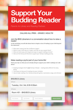 Support Your Budding Reader
