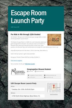 Escape Room Launch Party