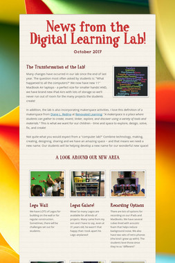 News from the Digital Learning Lab!