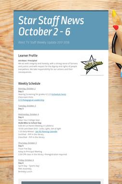 Star Staff News   October   2 - 6