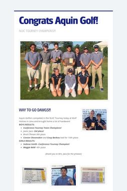 Congrats Aquin Golf!