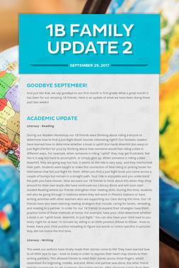 1B Family Update 2