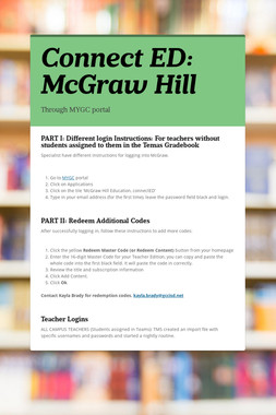 Connect ED: McGraw Hill
