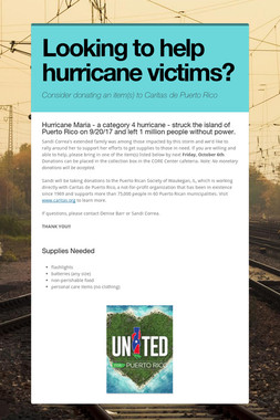 Looking to help hurricane victims?