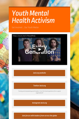 Youth Mental Health Activism