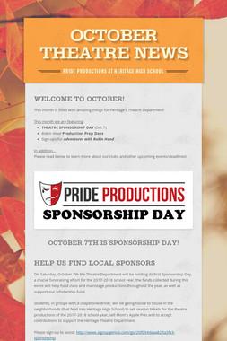 October Theatre News