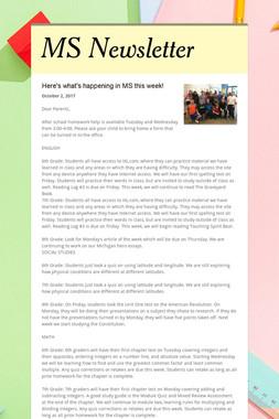 MS Newsletter