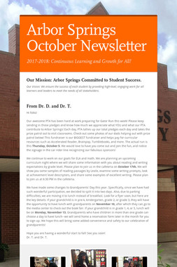 Arbor Springs October Newsletter